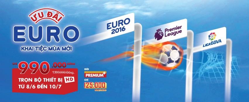 K+ khuyến mãi euro 2016