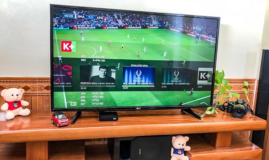 Dùng thử K+ TV Box: thêm lựa chọn dịch vụ truyền hình cho fan bóng đá Việt